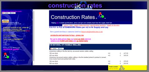 Construction Rates Prices trades Building specification and cost