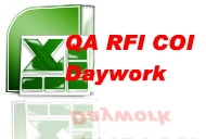Construction Daywork Template with QA COI RFI Templates