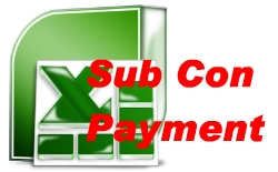 Sub Contract Payment and Authorisation Schedule Template