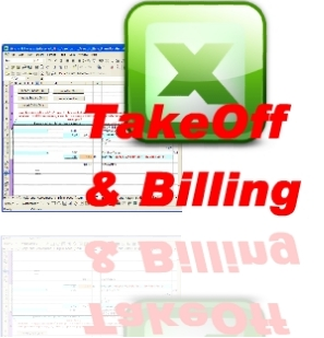 construction excel dim take off measurement abstract and billing sheet